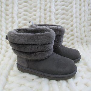 New UGG Australia Fluff Mini Quilted Logo Boot 2